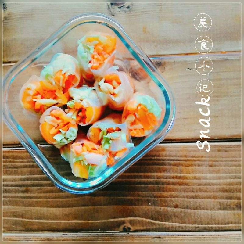 【食譜】越南生春卷,自製野餐沙拉做法出乎你意料簡單!超低熱量,夏日減肥料理!
